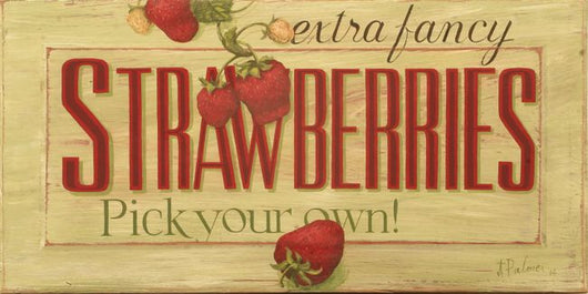 CWP-SB Strawberries Board Sign