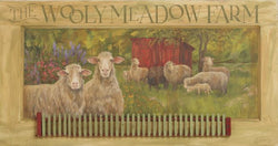 CWP-WM The Wooly Meadow Farm Board Sign