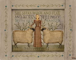 CWP-SWF She Seeks Wool & Flax Board Sign - Due Mid Oct