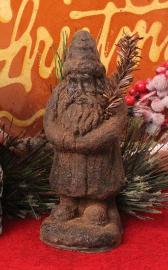 BB-X03 Wax Standing Santa with Sprig