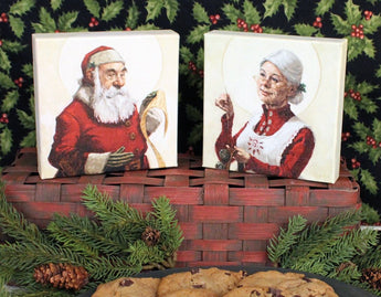 DG-1328 Mr. & Mrs. Claus Canvas Blocks