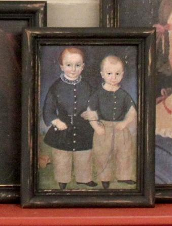 DL-1424 Two Brothers Primitive Portrait