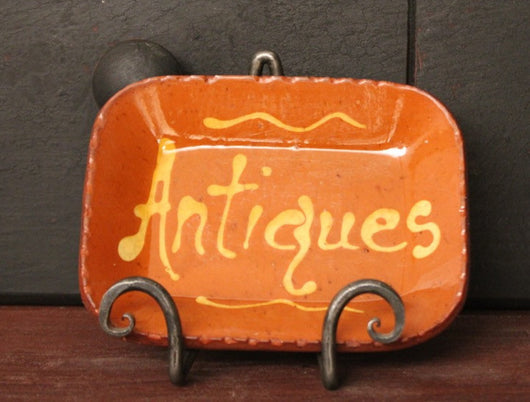 DTS-25 Mini Antiques Redware Tray
