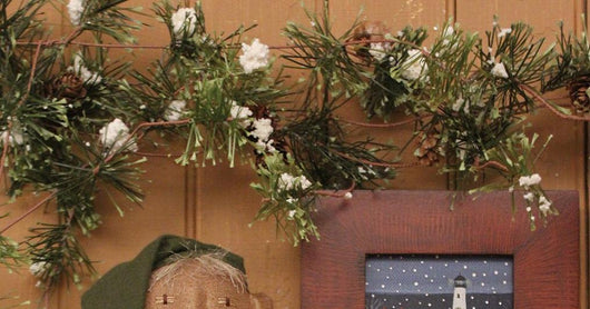 SU-1386 Faux Greens Snow Garland