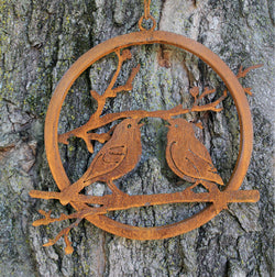 EG-LBW Rusty Love Birds Wreath