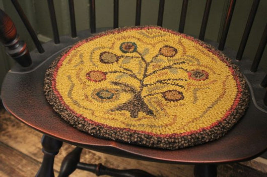HD-CP-TL Tree of Life Hooked Chair Pad