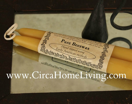 HH-BS Beeswax Candles [Boxed Pair]