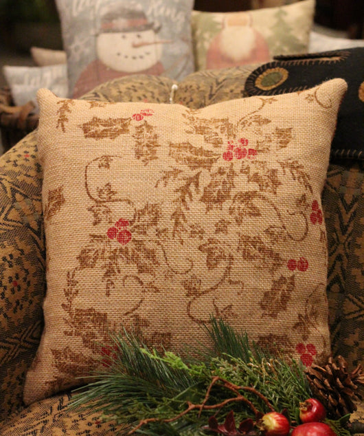 NV-HP1 Burlap Holly Pillow