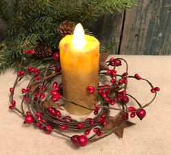 NET-LBR Lg Berry & Rusty Star Candle Ring