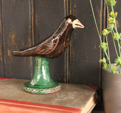 DTS-BIRD Pottery Blackbird Figurine