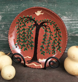 DTS-105 Willow Redware Plate