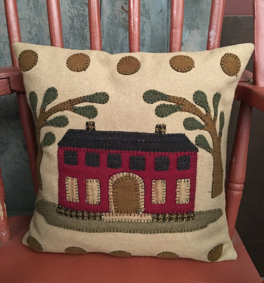 RG-PRH Primitive Red House Felt Pillow