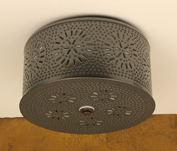 IR-RCL Punched Tin Round Ceiling Light