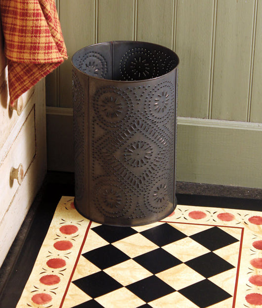 IR-WD Punched Diamond Design Tin Wastebasket