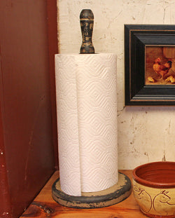 KJ-PTH Wooden Paper Towel Holder [Putty]