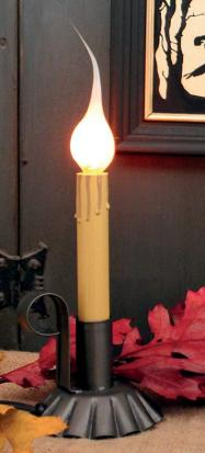 IR-1279 Tin Candle Light with Flicker Bulb