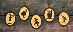 MB-1283 Paper Halloween Silhouette Ornaments