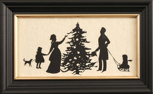 MB-1373 Found the Tree Framed Silhouette