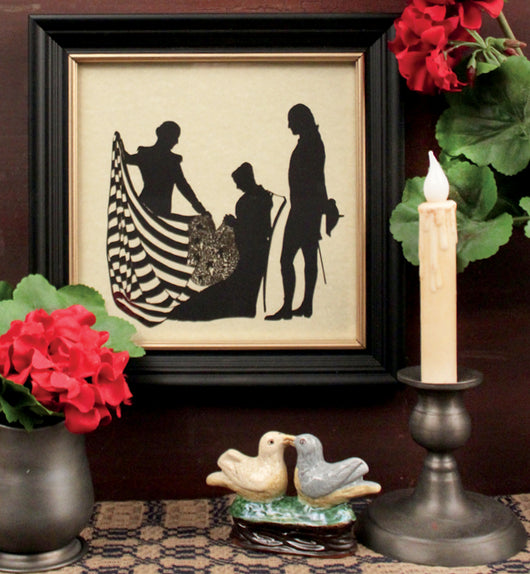 MB-1455 Patriotic Framed Silhouette