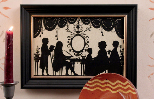 MB-PS Family in the Parlor Silhouette