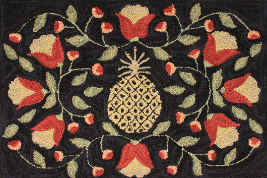 PD-1413 Pineapple Hooked Rug