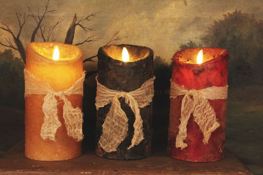 RJ-PIL Realistic Flame Pillar Candle