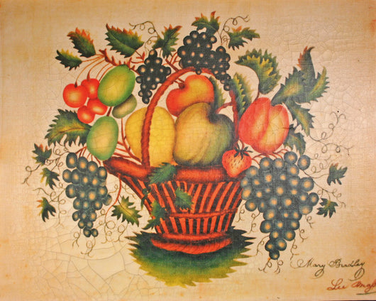 RM-029 Basket of Fruit Canvas Transfer - Allow 3 to 4 weeks for delivery