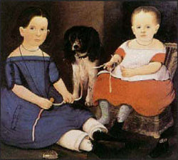 RM-044 Two Children With Dog
