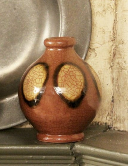 SE-1964 Small Redware Eye Dot Vases