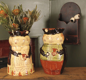 SJP-MJ/TJ Martha & Toby Pottery Jugs