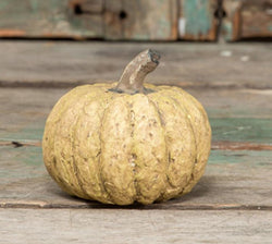 RA-1245W Small White Paper Mache Pumpkin
