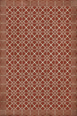 SP-RW Williamsburg Woven Red Vinyl Floor Mat