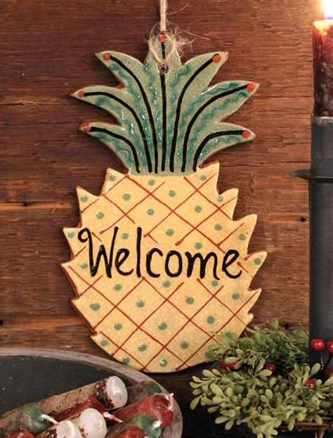 KS-1349 Welcome Pineapple Hanger