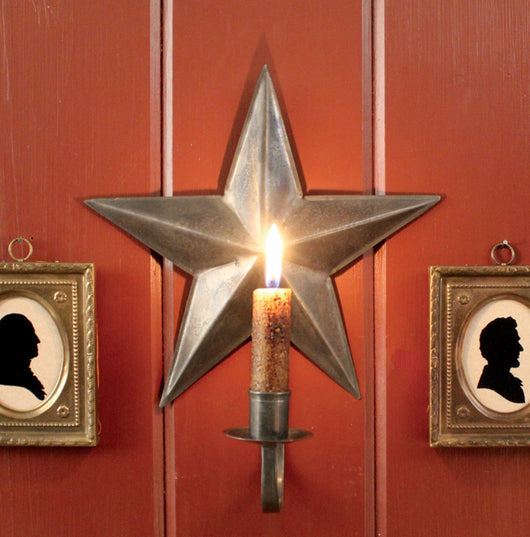 TP-STS Tin Star Candle Sconce