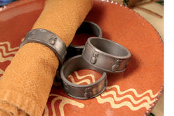TPH-4NR Pewter Napkin Rings - Set of 4