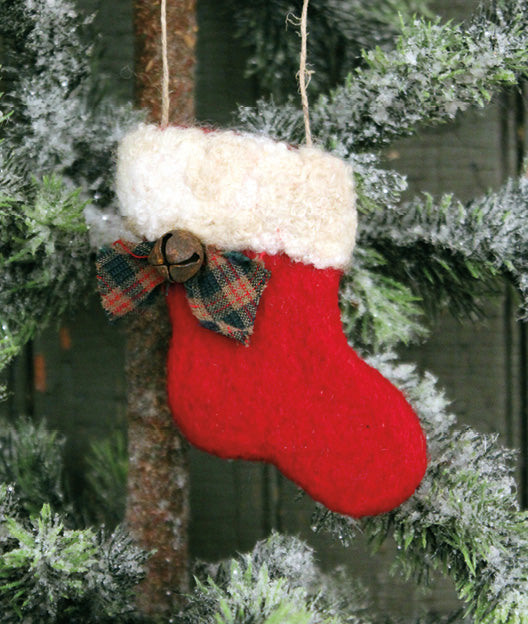 TRH-1376 Felted Wool Stocking Ornament