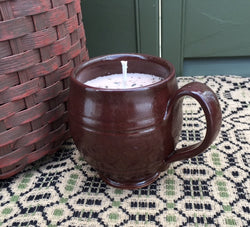 NV-PMC Potbelly Redware Mug with Soy Candle