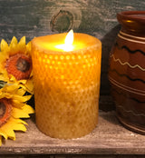 RJ-FBC Realistic Flame Beeswax Pillar Candle