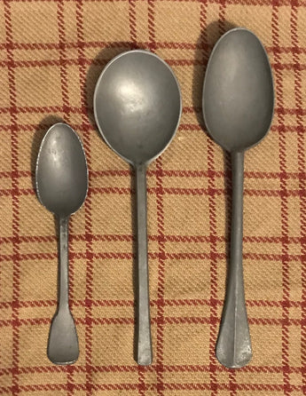 TPH-TS3/S3/S4 Period Pewter Spoons