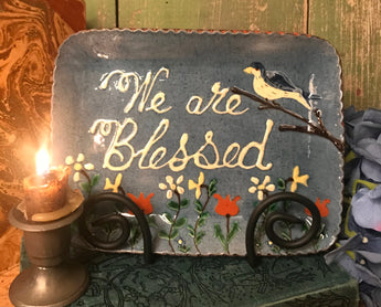 DTS-157 We are Blessed Redware Tray