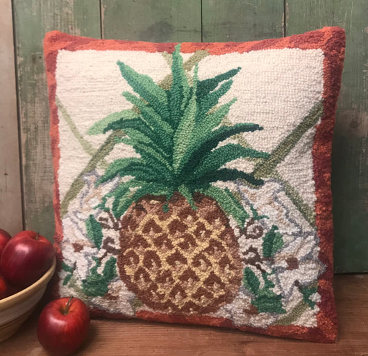 PH-026 Pineapple Wool Hooked Pillow
