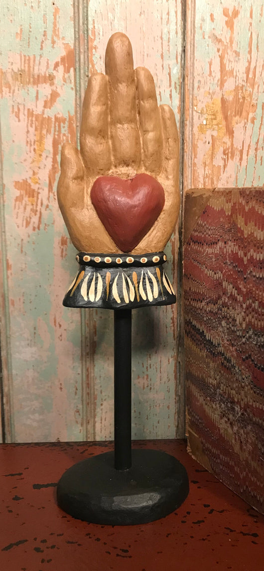 WW-141 Heart in Hand on Stand