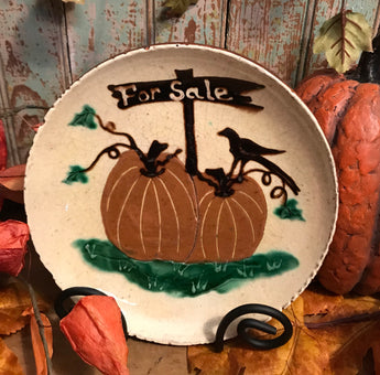 DTS-F09 Pumpkins For Sale Redware Plate