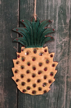 KS-PIN Redware Pineapple Hanger