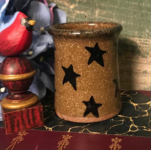 CC-2002 Mini Pottery Crock with Stars