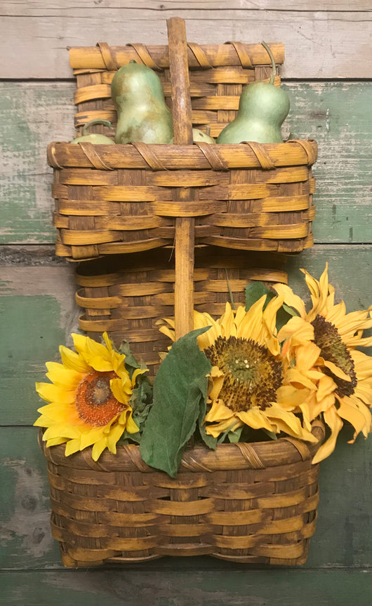 BG-B54 Mustard 2 Tier Wall Basket