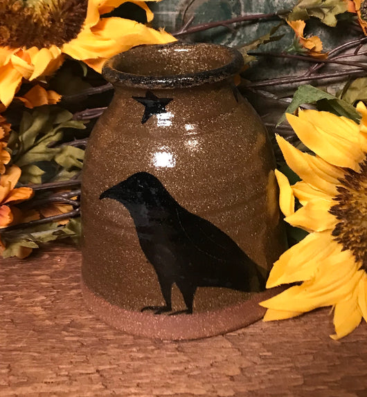 CC-2016 Pottery Crow Canning Crock