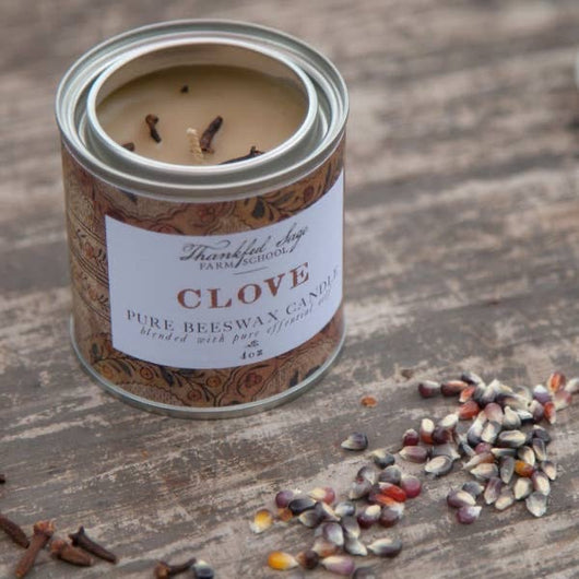 SFS-02 Clove Pure Beeswax Can Candle