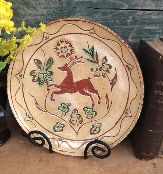 DTS-1922 Stag Redware Plate