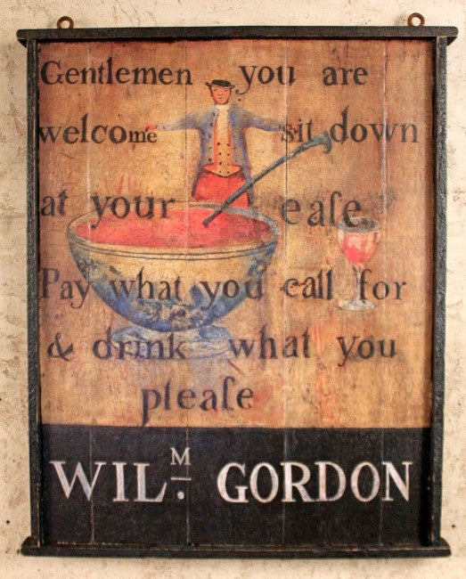 RM-WG William Gordon Tavern Sign - Allow 3 to 4 weeks for delivery